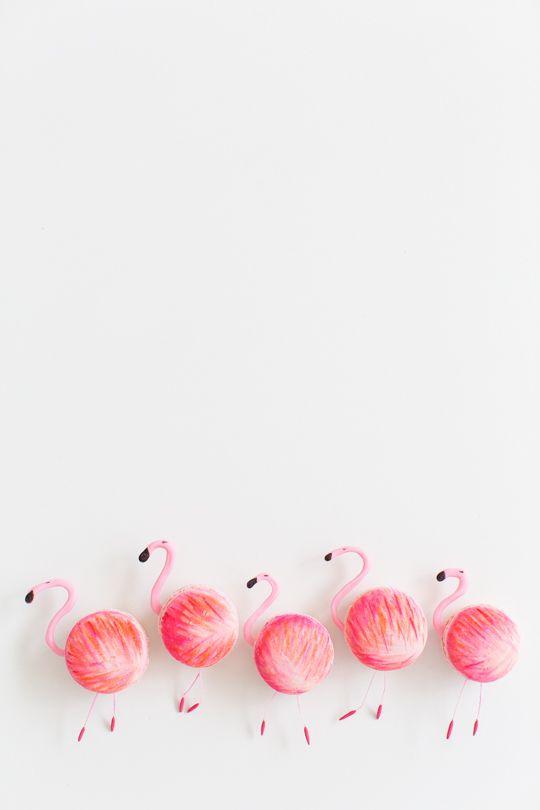 Make your own flamingo macarons!