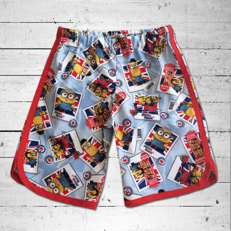 A personal favourite from my Etsy shop https://www.etsy.com/au/listing/265323706/minions-in-london-print-boy-racer-shorts