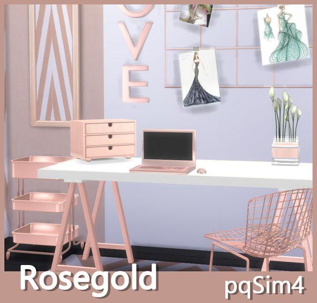 Custom DecorSims Gold 4 ContentSims Rose 80ymNOnwvP