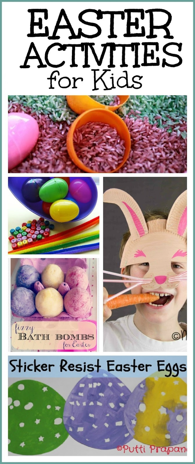 Tons of FUN Easter Activities for Kids- art, crafts,  math, sensory play, & more!