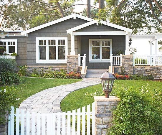 129 best ranch home porches images on pinterest exterior for How to add curb appeal to a ranch style house