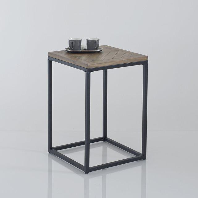 Image Bout de canapé métal et bois, H60 cm, Nottingham La Redoute Interieurs