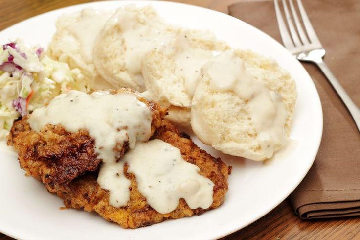 Country-Fried Round Steak | This basic country-fried round steak recipe comes together with a crust made with bread crumbs and cracker crumbs. Country fried steak is also known as chicken-fried steak. It's a classic Southern dish. The steaks are usually made with thinned and tenderized round steak or cube steak.