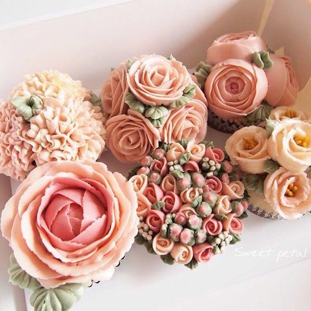 Buttercream flower cupcakes