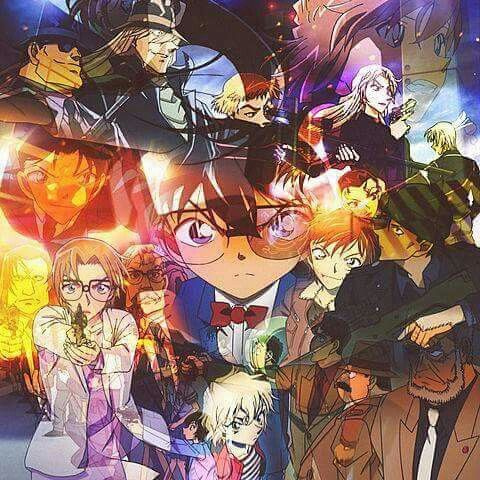 Detective conan with a lot of colours