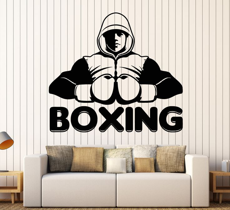 Vinyl Wall Decal Boxing Club Word Boxer Sports Stickers Mural Unique Gift (ig4528)
