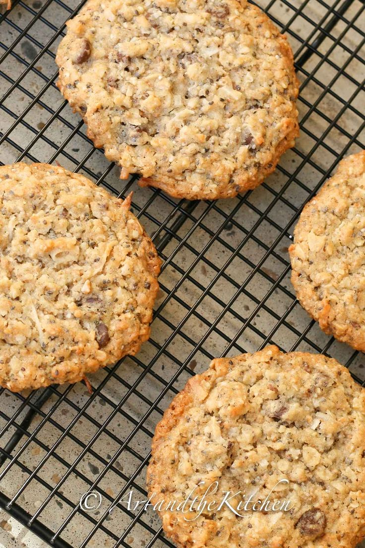 Here's an oatmeal cookie recipe with a healthy twist and tastes terrific! Hemp & Chia Seed Oatmeal Cookies are made with multigrain flour, oats, chia and hemp seeds.