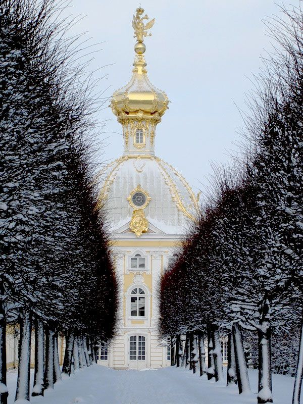 St. Petersburg, Russia -    Peterhof (Petrodvorets), a breathtaking palace also known as the Russian Versailles. The [lavish] Winter Palace, as well as The Winter Canal, and St.Isaac's Cathedral, are just a few of the must-see sites. Here, tradition is recognized, remembered and celebrated.