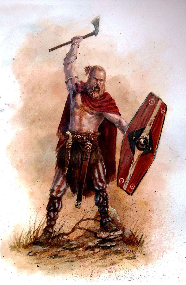 Das ist ein klassisch Deutsche Krieger. Sie töten Römer und zerstört die römische Reich.