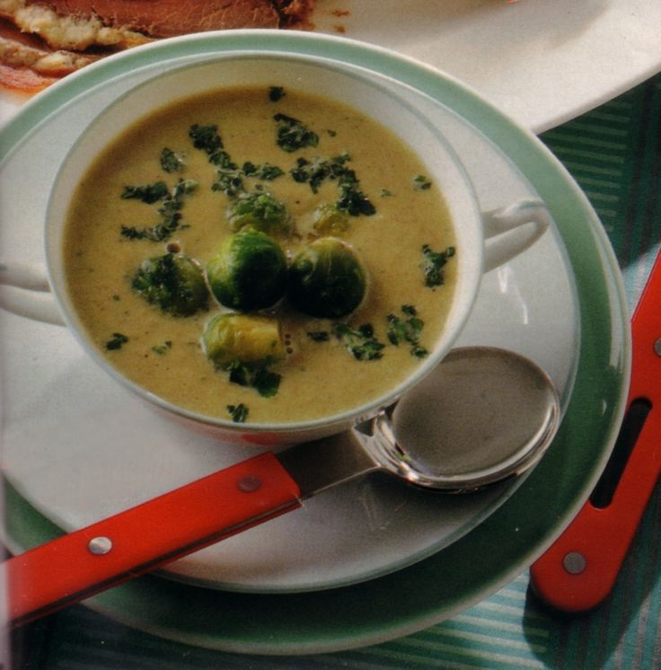 Authentic German Brussels Sprout Soup - Brussels Sprouts is a great winter seasonal vegetable and makes a very tasty soup. This is a Original German recipe.