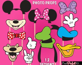 Minnie Mouse photo booth props Minnie Mouse by JCBelleCreations