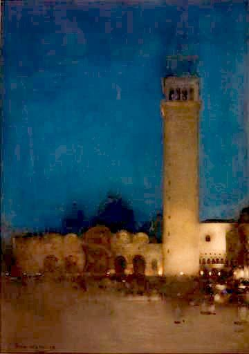 Arthur Melville - The Blue Night, Venice.  I love his work, the watercolours are beautiful