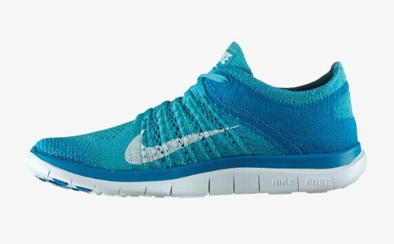 Nike Free Flyknit 4. 0 Sport Turq White Neo Turq Womens Running Shoes 631050 314