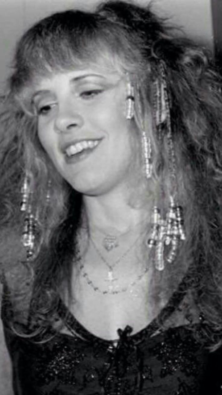a lovely close-up photo of Stevie ~ ☆♥❤♥☆ ~   all glammed up with beaded hair adornments during the making of 'Stop Draggin My Heart Around' with Tom Petty and The Heartbreakers, 1981    ~  https://youtu.be/6UD0c58nNCQ   ~  https://en.wikipedia.org/wiki/Stop_Draggin%27_My_Heart_Around