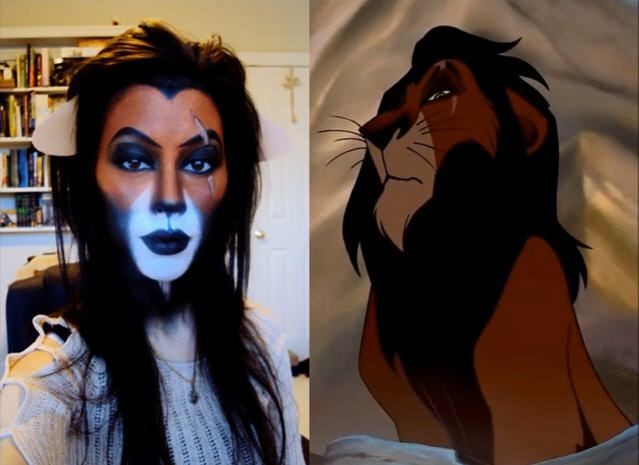 Scar Makeup!! I so would be Scar and just go around singing Be Prepared all night EPIC!