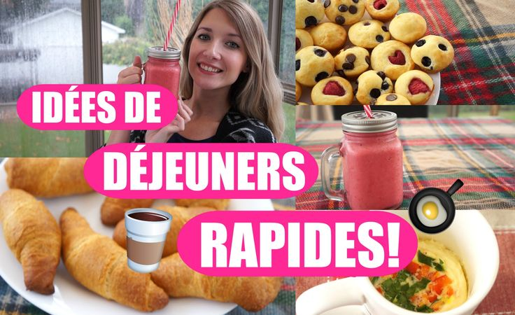 *** Idées de petits-déjeuners pour l'école ! | Rapide & facile ! ***