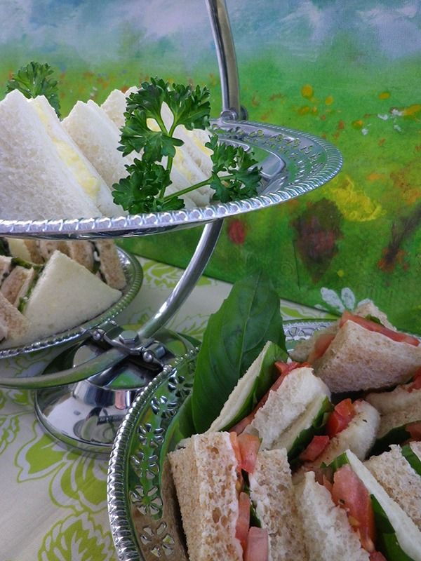 Finger sandwiches for afternoon tea - ideas and recipes for traditional finger sandwiches