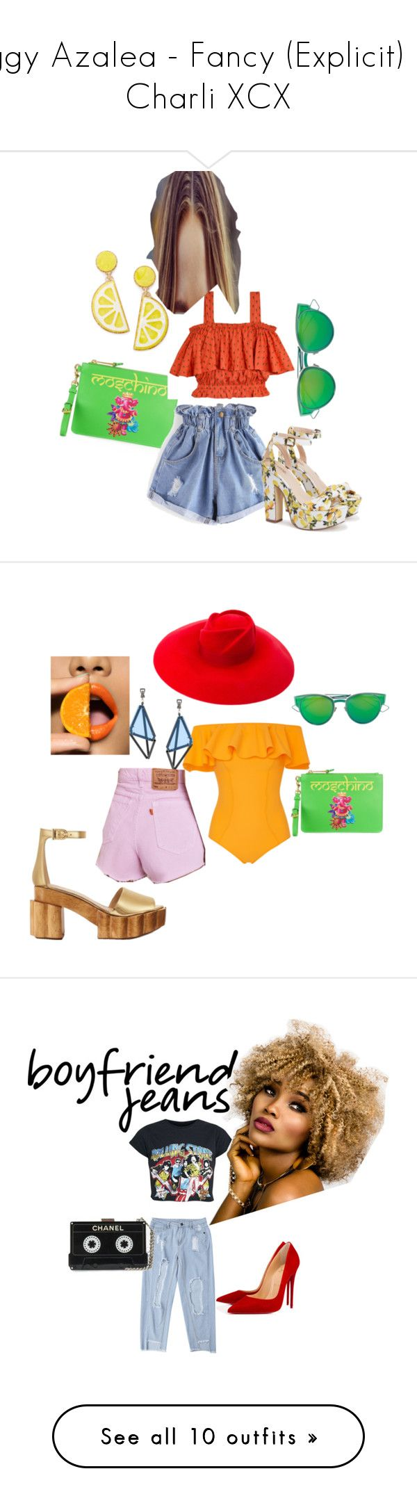 """""""Iggy Azalea - Fancy (Explicit) ft. Charli XCX"""" by peace-love-and-soul ❤ liked on Polyvore featuring Moschino, Samantha Pleet, WithChic, Celebrate Shop, Christian Dior, Gucci, Lisa Marie Fernandez, Issey Miyake, Urban Renewal and Tory Burch"""