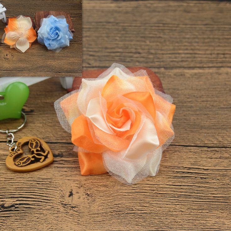 10 pz di Seta Grande Fuoco Rose Fiore Artificiale Per La Cerimonia Nuziale Handmade Della Decorazione Della Casa FAI DA TE Corpetto Scarpa Cappelli Accessori Craft Fiore