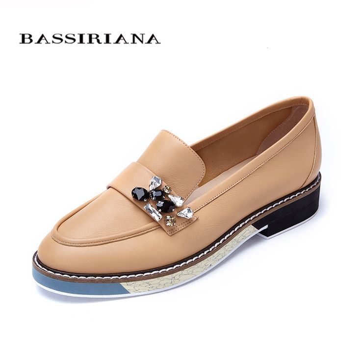 Leather shoes woman 2017 Spring Autumn Blue Black Brown Round Toe Casual  shoes for women Basic. Top ShoesWomen's ShoesPlatform ...