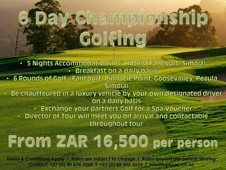 6 Day Championship Golfing