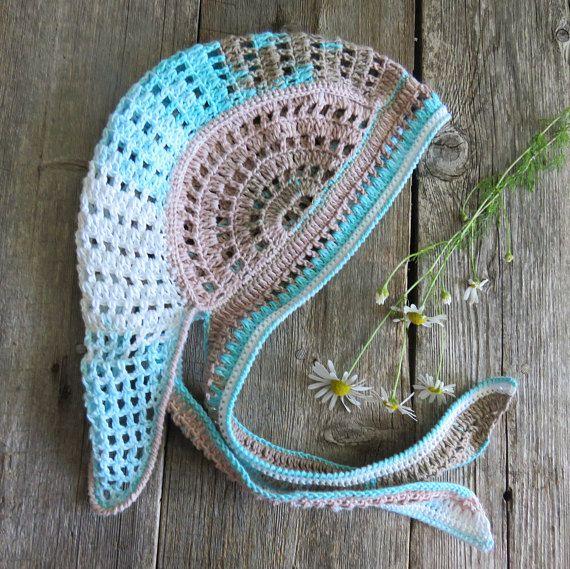 Bandana headband unisex headgear crochet bandana cotton knit cap unisex bandana women summer hat knit headgear boy girl cotton bandana