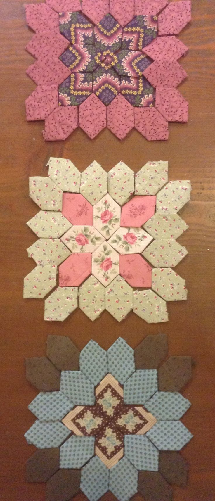 English paper piecing pattern