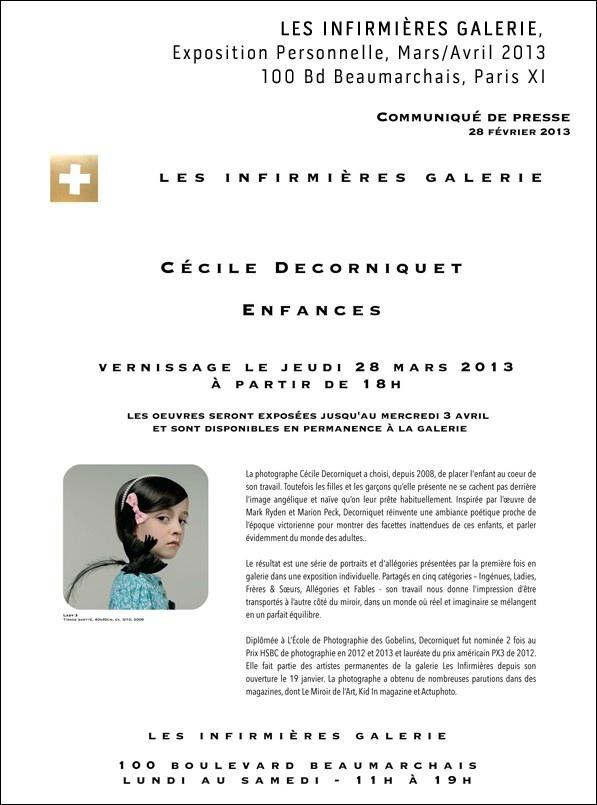 Les Infirmières Galerie - Expo Cécile Decorniquet