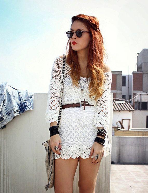 CROCHET FASHION TRENDS exclusive white crochet by LecrochetArt