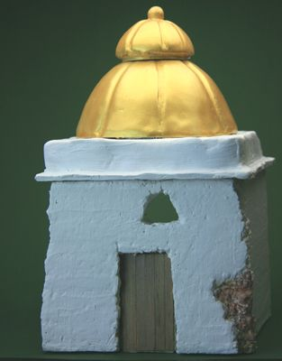 Make Simple Domed Buildings from Foam, Paper and Paper Clay in Many Scales
