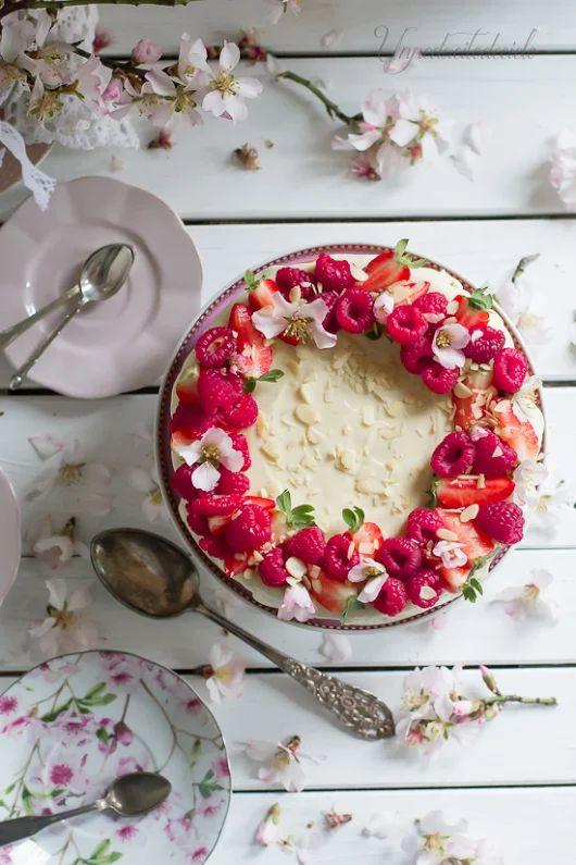 un pedacito de cielo: Cheesecake de Chocolate Blanco y Frambuesas