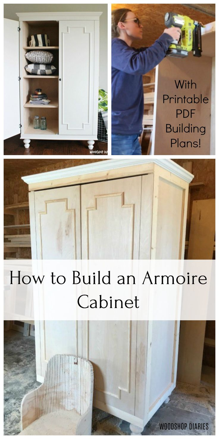 How to Build a DIY Wardrobe Armoire Storage Cabinet with ...