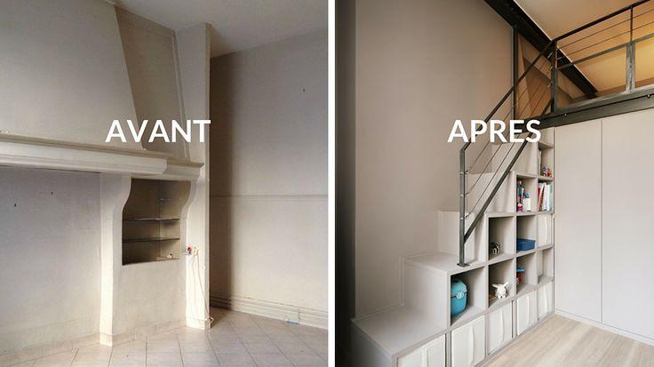 Avant / Après : restructurer l'espace en trois chambres d'enfant