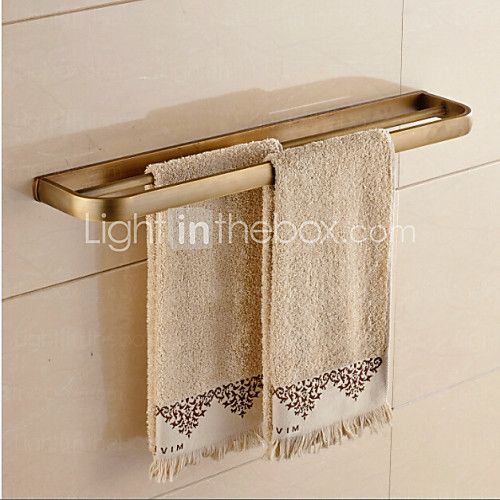 Bathroom accessories,Antique Brass Material Double Towel Bar 2017 - $45.99