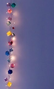 lighted paper cube garland.