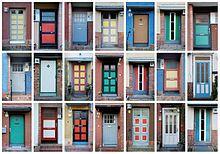"Doors of the UNESCO World Heritage Hufeisensiedlung (""Horseshoe Estate""), 1925-1932 by Bruno Taut in Berlin"