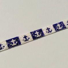Bracelet tissé en perles miyuki aux motifs marins
