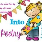 April is National Poetry Month teachers!!! Poetry has never been easier for your little ones! Students can actually play with words and repetition ...