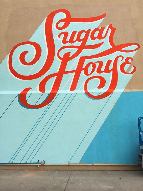 Sugarmont mural jill de haan type lettering for Mural lettering