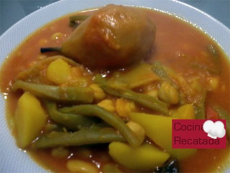 Olla gitana- plato de cuchara, tipico murciano.