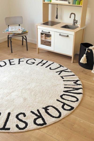 ABC Round Washable Rug   Black. Best 25  Washable rugs ideas on Pinterest   Lorena canals  Lorena