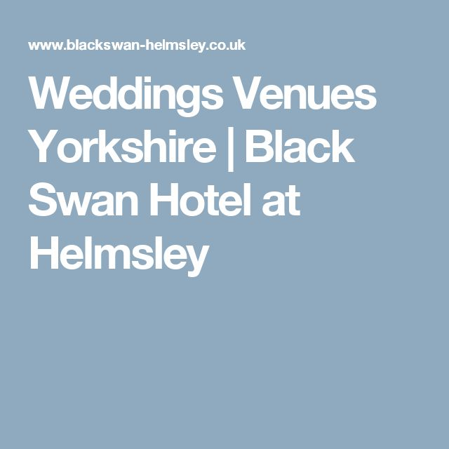 Weddings Venues Yorkshire | Black Swan Hotel at Helmsley