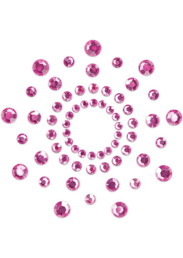 Bijoux Indiscrets Body Decorations Mimi Rhinestone Pasties Pink 2 Each Per Pack