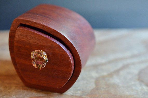 I love miniatures! this is a little treasure box drawer, handcrafted from redgum wood - that's a tough job and I'm glad it was handled by a pro, this is one thing I don't want DIY myself! Gorgeous jewellery box or store other secret fancies! ____ Redgum asymmetrical wooden bandsawn box Australian by TommysHut, $30.00