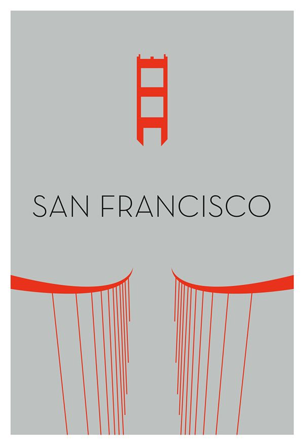 Minimalist posters of the structures that define the skylines of major cities.