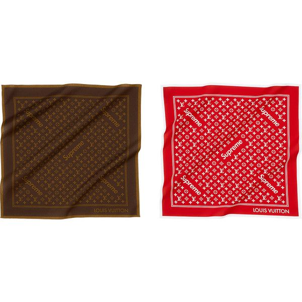 Supreme Louis Vuitton/Supreme Monogram Bandana ❤ liked on Polyvore featuring accessories, louis vuitton bandana, louis vuitton and monogrammed handkerchief