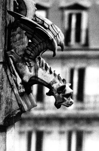 Gargoyle Paris by cemetery-crow, via Flickr