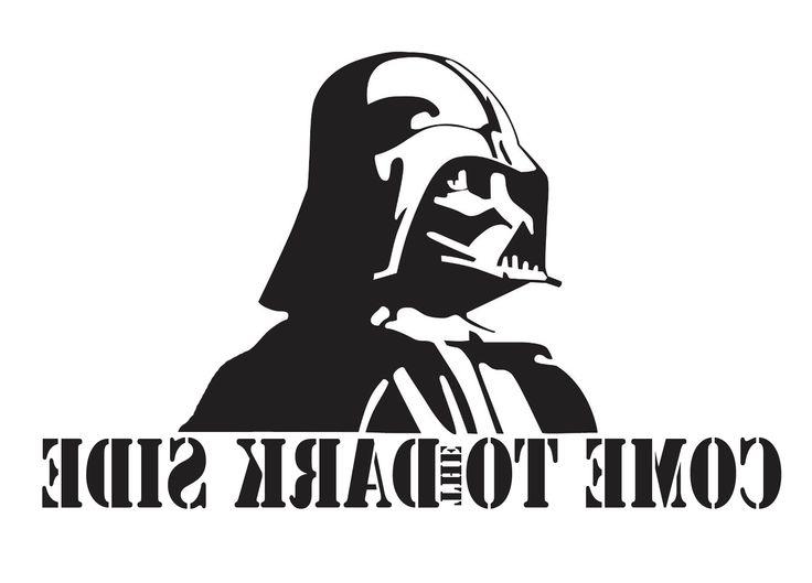 Трафарет Dart Vader на заднее стекло.