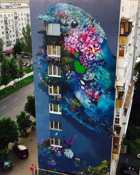 Best Dessin Sur Mur Images On Pinterest Urban Art Drawings - Building in berlin gets transformed by amazing 137 foot tall starling mural
