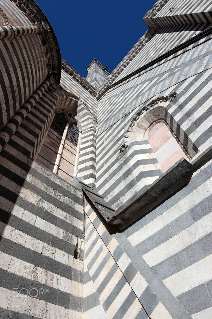 Cathedral in Orvieto, Italy - Cathedral detail in Orvieto, Umbria Italy